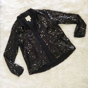 Silence + Noise Black Sequin Jacket